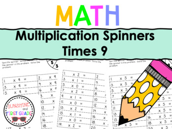Multiplication Spinners 9
