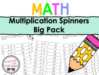 Multiplication Spinners Big Bundle