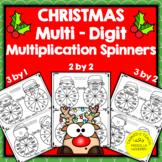 Multiplication Spinners   Christmas Multi-Digit Multiplica