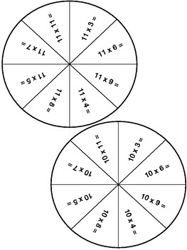Multiplication Spinners Game