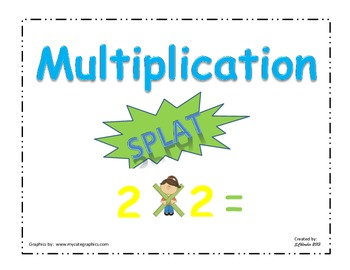 Multiplication Splat Game