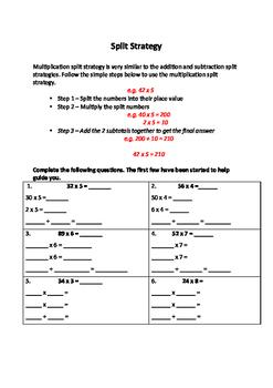 Multiplication Split Strategy