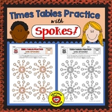 Times Tables Practice:  SPOKES (Color & B/W)