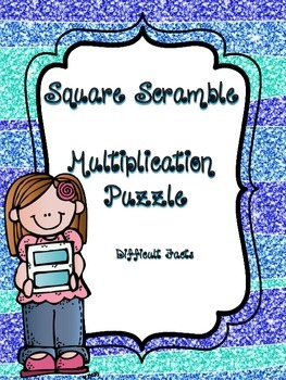 Multiplication Square Scramble