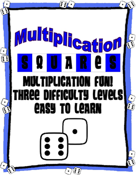 Multiplication Squares GAME: Facts from 1 to 12 (3 Difficulty Levels)
