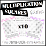 Multiplication Squares Game 10 Times Table