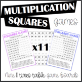 Multiplication Squares Game 11 Times Table