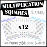 Multiplication Squares Game 12 Times Table