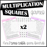 Multiplication Squares Game 2 Times Table