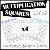 Multiplication Squares Game 4 Times Table