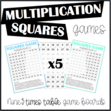 Multiplication Squares Game 5 Times Table