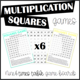 Multiplication Squares Game 6 Times Table