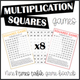 Multiplication Squares Game 8 Times Table