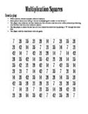 Multiplication Squares Game (x7)