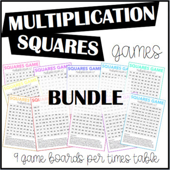 Multiplication Squares Games BUNDLE