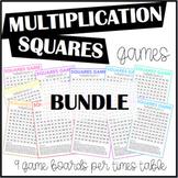Multiplication Squares Games BUNDLE