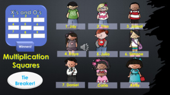 Multiplication Squares Review Game for 3rd and 4th Grades