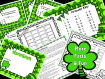 Multiplication, St. Patrick's Day, March, Differentiated Task Cards