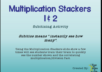 Multiplication Stackers 1 and 2 FREE