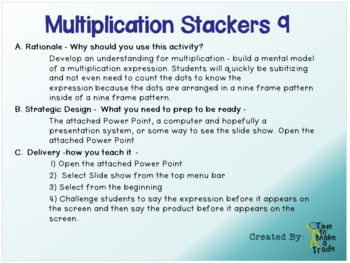 Multiplication Stackers 9