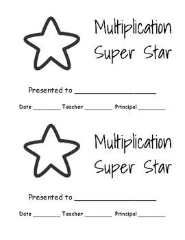Multiplication Star Award