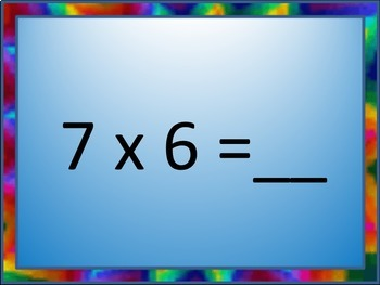 Multiplication Flash Cards PowerPoint