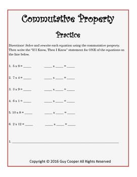 Multiplication Mini Lesson: Commutative Property