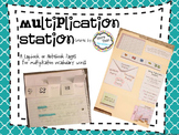 Multiplication Vocabulary Resource - For Lapbook or Math Notebook