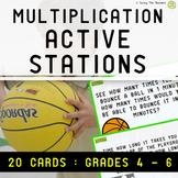 Multiplication Station Task Cards: Grades 4 - 6