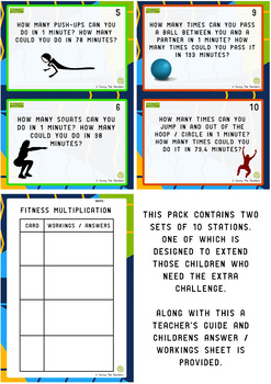 Multiplication Station Task Cards: Grades 4 - 6