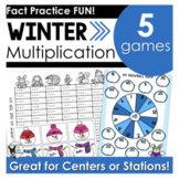 Multiplication Stations Winter Themed Games