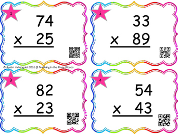 Multiplication Steal 2 digits X 2 digit With QR Codes