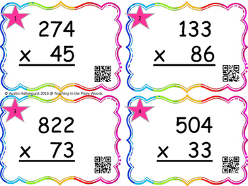 Multiplication Steal 3 digits X 2 digit With QR Codes