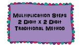 Multiplication Steps for 2 Digit x 2 Digit