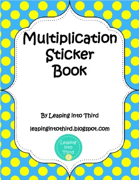Multiplication Sticker Book