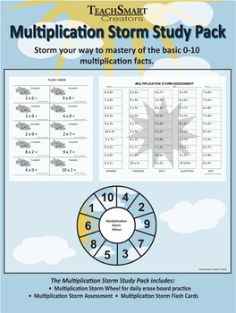Multiplication Storm Study Pack
