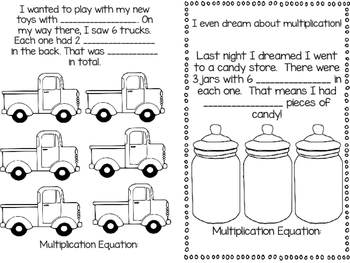 Multiplication Story Problem Book Writing: Our Amazing Dreams