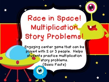Multiplication Story Problem Common Core Race in Space Center Game basic facts