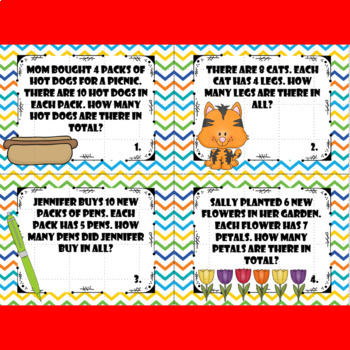Multiplication Story Problem Task Cards