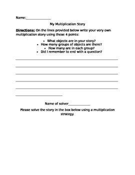 Multiplication Story Writing