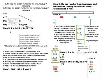 Multiplication Strategie Booklet