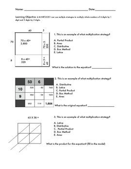 Multiplication Strategies  4.M.NBT.B.05