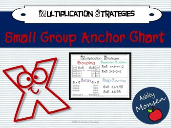 Multiplication Strategies Anchor Chart -Small Group