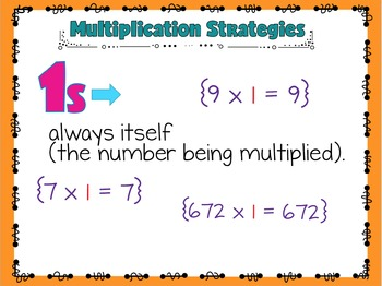 Multiplication Chart and Strategies PowerPoint