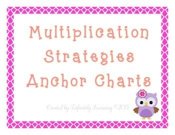 Multiplication Strategies Anchor Charts