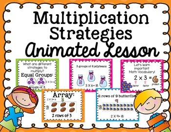 Multiplication Strategies-Animated Lesson
