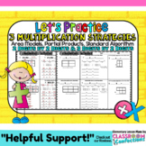 Multiplication Strategies: Area Models, Partial Products,