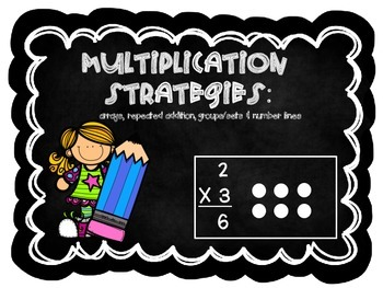 Multiplication Strategies: Arrays, Sets/Groups and Number Lines