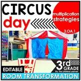 Multiplication Strategies Review | 3rd Grade Circus Classroom Transformation