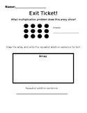 Multiplication Strategies Exit Ticket